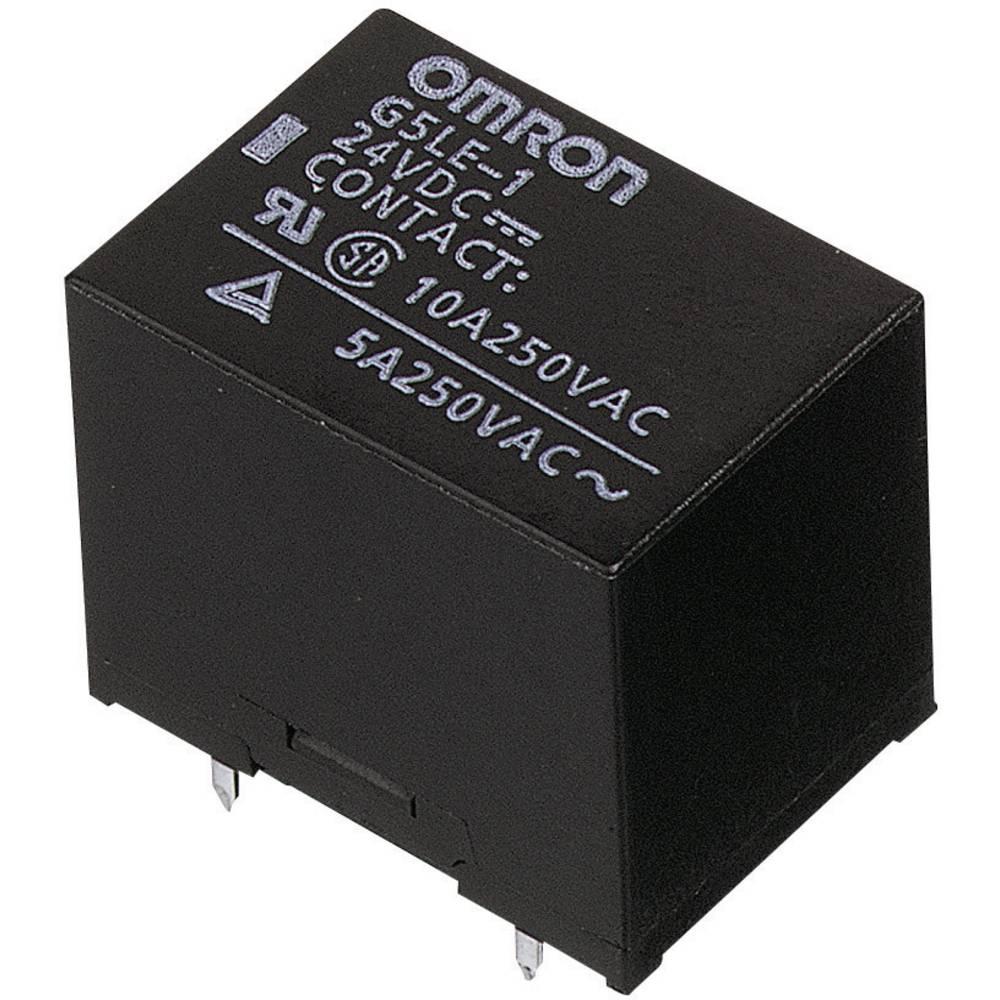 Printrelæ 24 V/DC 8 A 1 x skiftekontakt Omron G5LE-1-VD 24 VDC 1 stk