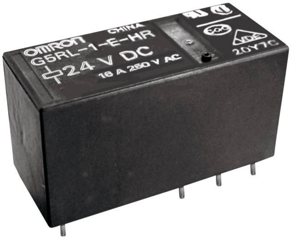 Anažan relej Omron G5RL-1-E24VAC, 24 V/AC, 1 x preklopni k., maks. (NO) 16 A/(NC) 5 A