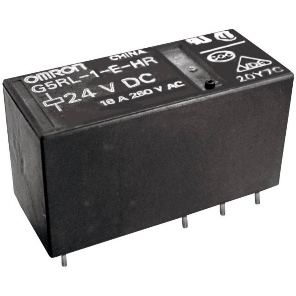 Printrelæ 12 V/DC 16 A 1 x skiftekontakt Omron G5RL-1-E-HR 12 VDC 1 stk