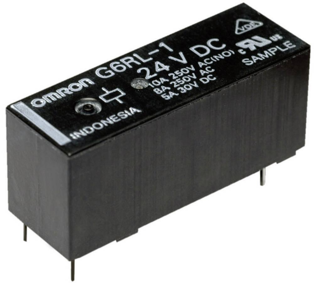 Printrelæ 24 V/DC 10 A 1 x skiftekontakt Omron G6RL-14-ASI 24 VDC 1 stk