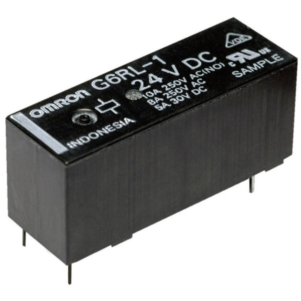 Printrelæ 5 V/DC 10 A 1 x skiftekontakt Omron G6RL-14-ASI 5 VDC 1 stk