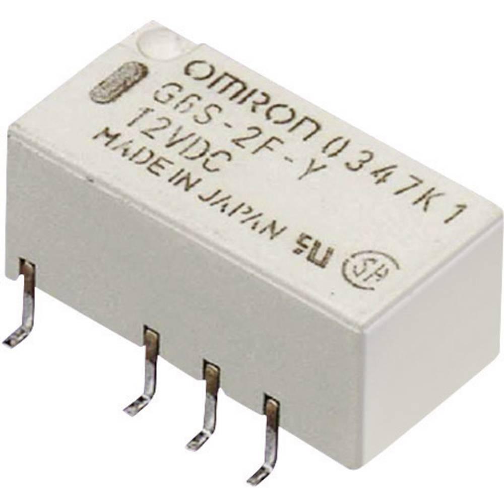 Izjemno majhen signalni rele Omron G6S-2F 5 VDC, 5 V/DC, 2 xpreklopni kontakt, maks. 2 A