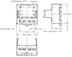 Relæsokkel 1 stk Omron P7LF-06 Passer til serie: Omron serie G7L (L x B x H) 55.5 x 56.5 x 35.2 mm