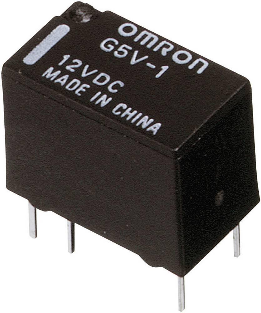Printrelæ 12 V/DC 1 A 1 x skiftekontakt Omron G5V-1 12DC 1 stk