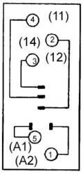 Relæsokkel 1 stk Omron P2RF-05E Passer til serie: Omron serie G2R