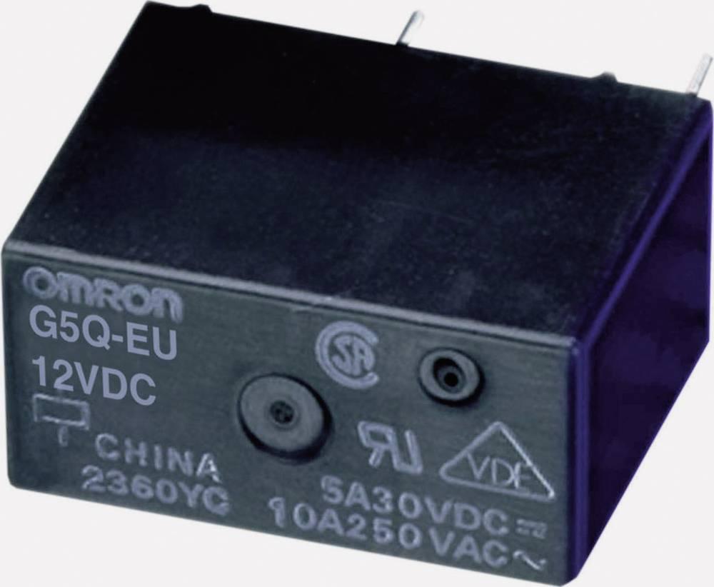 Kompaktan PCB snažan relej G5Q-EU, 5 A/30 V/DC, 10 A/250V/ACOmron G5Q-1-EU 5DC 5 V/D