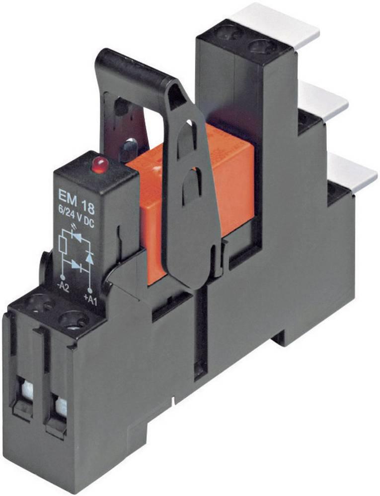 Relækomponent 1 stk TE Connectivity RT3S4R24 Nominel spænding: 24 V/AC Brydestrøm (max.): 16 A 1 x skiftekontakt