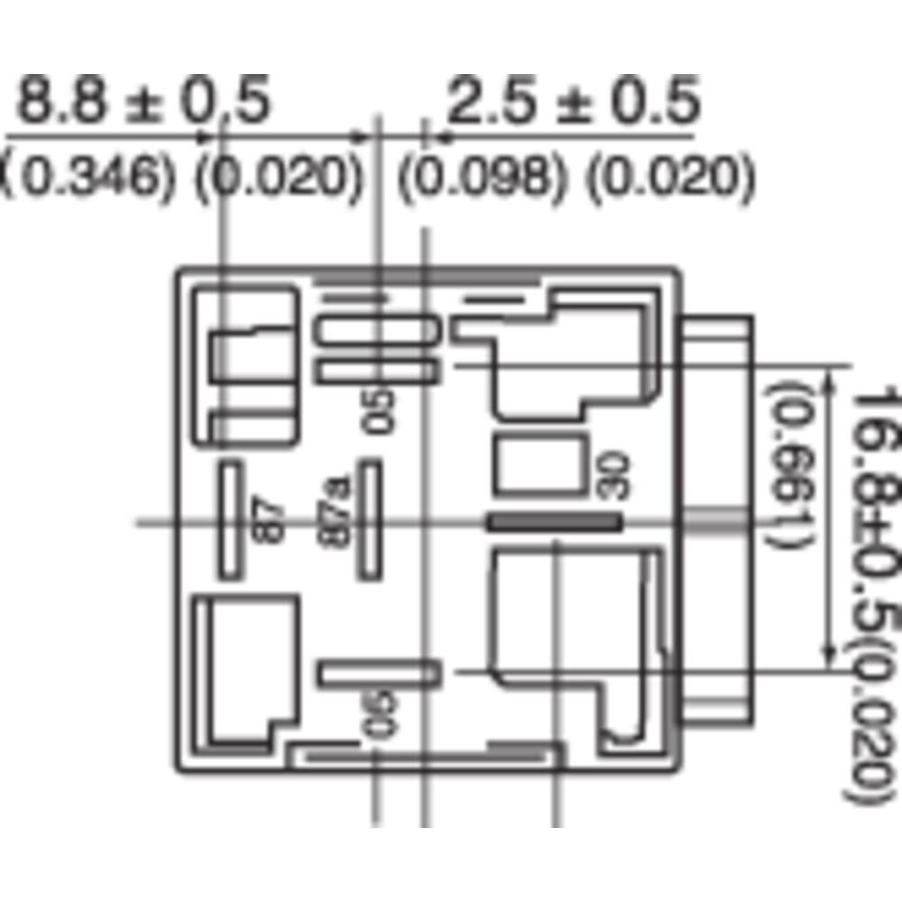 Automotive relay 12 Vdc 50 A 1 change-over Song Chuan from Conrad.com