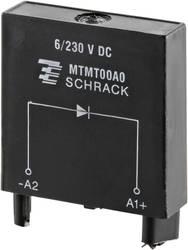Indstiksmodul med beskyttelsesdiode , Uden LED 1 stk TE Connectivity MTMT00A0 =M21 Passer til serie: TE Connectivity serie MT