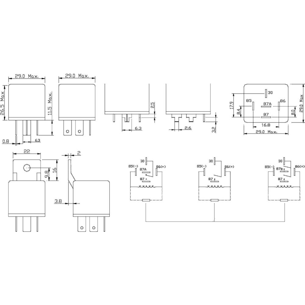 Fic Frc2c 1 Dc12v Automotive Relay 12 Vdc 50 A Change Over From Diagram