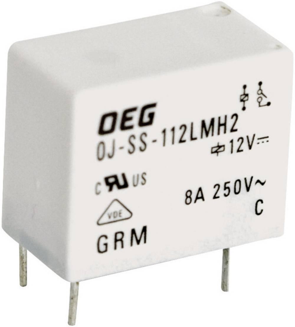Printrelæ 24 V/DC 8 A 1 x sluttekontakt TE Connectivity OJ-SS-124LMH2 1 stk