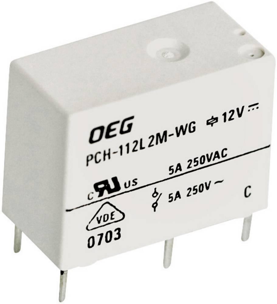 Miniaturni snažan relej za tiskanu pločicu TE Connectivity PCH-112D2-WG, 12 V/DC, 5 A 1721766-5
