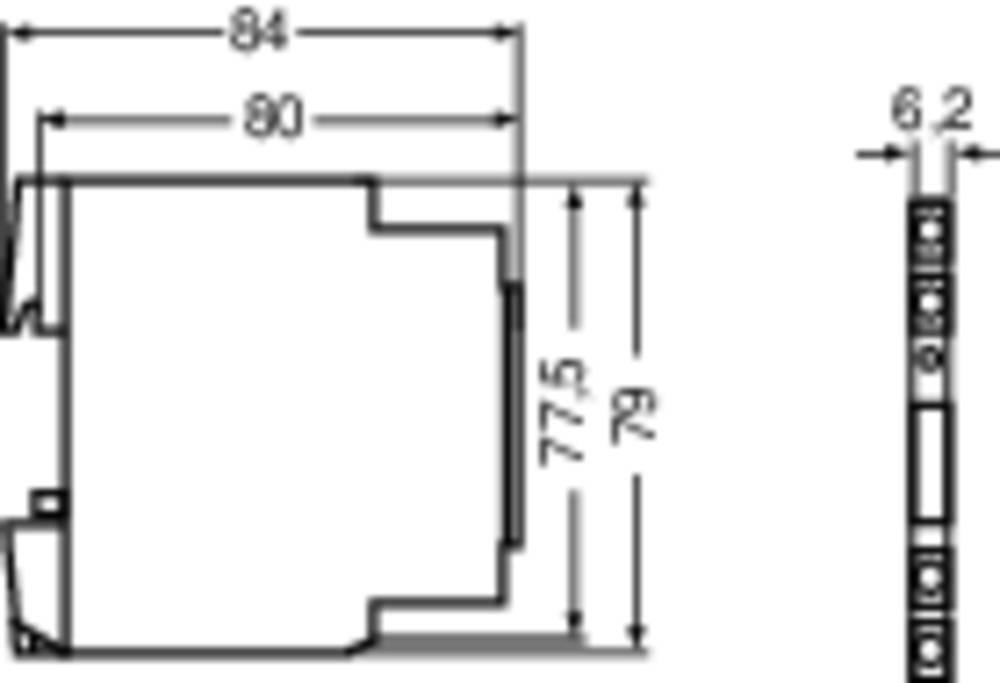Vmesniški rele Microcompact Lütze RE-6-0017 230 V AC/DC 1 izmenjevalnik (AC/DC) 6 A 1 kos