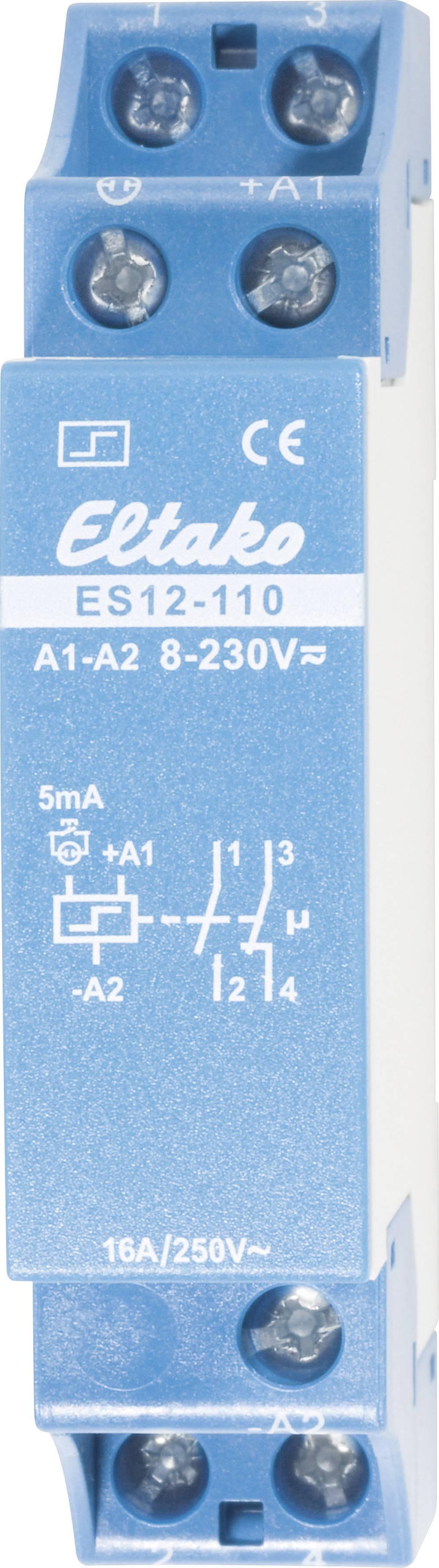 Strømstødskontakt DIN-skinne 1 stk Eltako ES12-110 1 x sluttekontakt, 1 x brydekontakt 230 V/DC, 230 V/AC 16 A 2000 W