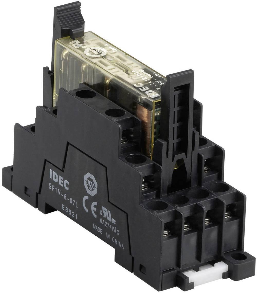 Relæsokkel 1 stk Idec SF1V-6-07L Passer til serie: IDEC serie RF1V (L x B x H) 75 x 29.8 x 58.9 mm