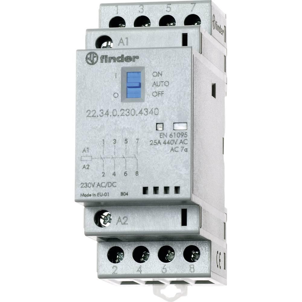 Instalacijska zaščita za 35 mm-letev 1 kos Finder 22.34.0.048.4720 s tremi zaklepi/1 odklep