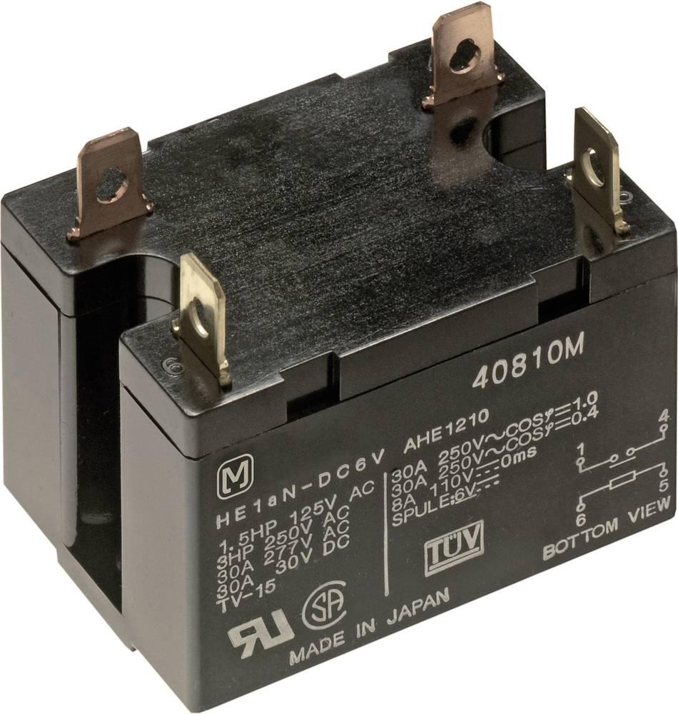 Panasonic HE1AN12-Snažni relej HE 30A, pljosnati utikač, 12 V, 1NO, 30A, 30V/DC/277V/AC