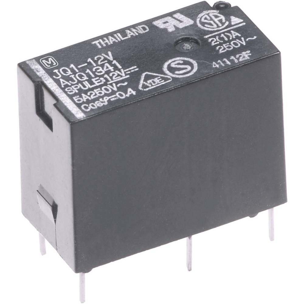 Panasonic JQ1B5F-Snažni relej za tiskanu pločicu, 1 preklop, NO5A/NC2A Max.110V/DC/250V/AC