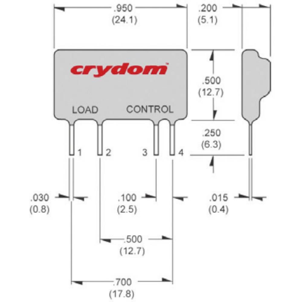 Crydom Dmo063 Solid State Relay Mini Sip From Conrad Electronic Uk Circuit