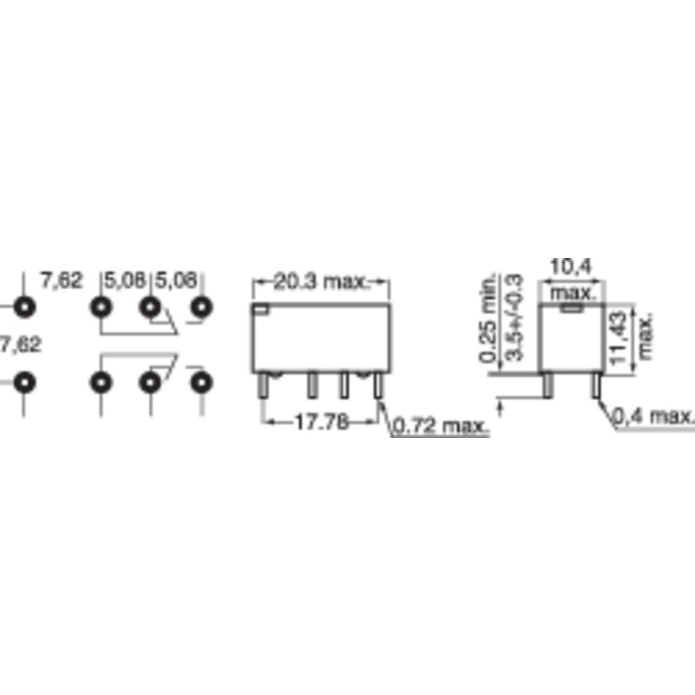 M4 24h Pcb Relays 24 Vdc 1 A 2 Change Overs Pcs From 5 Pin Relay Datasheet