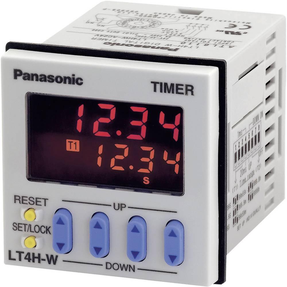 Tidsrelæ Panasonic LT4HW24J Multifunktionel 12 V/DC, 24 V/DC 0.01 s - 9999 h 1 x skiftekontakt 1 stk