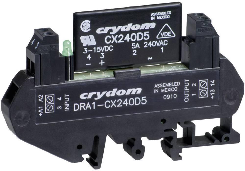 Halvlederrelæ 1 stk Crydom DRA1-CXE240D5 Last-Strøm (maks.): 5 A Koblingsspænding (max.): 280 V/AC Vekslende ved nulspænding
