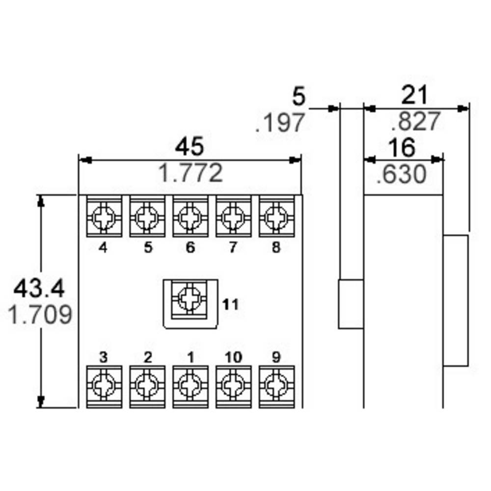 Relay Socket 1 Pcs Panasonic At78051j Pm4h 11 Pin 4 Prong Pigtail Lt4h W L X H 434