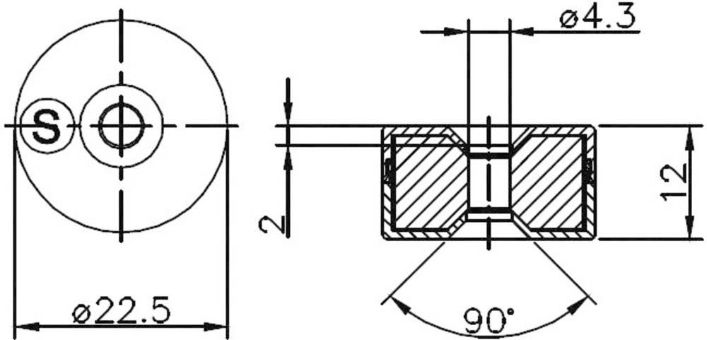 Secatec (Ø x H) 22.5 mm x 12 mm
