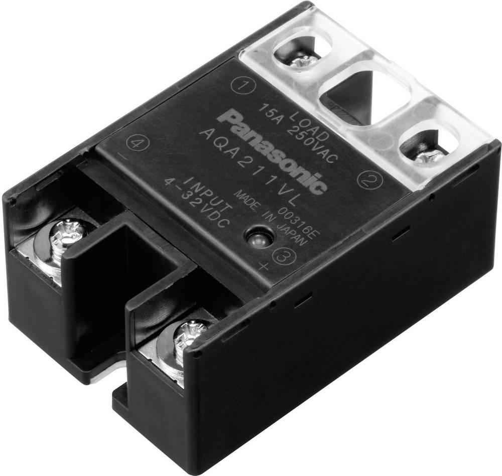 Halvlederrelæ 1 stk Panasonic AQA411VL Last-Strøm (maks.): 25 A Koblingsspænding (max.): 250 V/AC Vekslende ved nulspænding