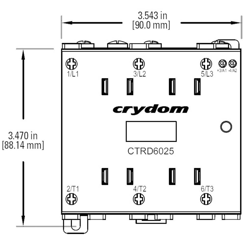 Crydom Ctrc6025 3 Phase Solid State Relay From Basics Of