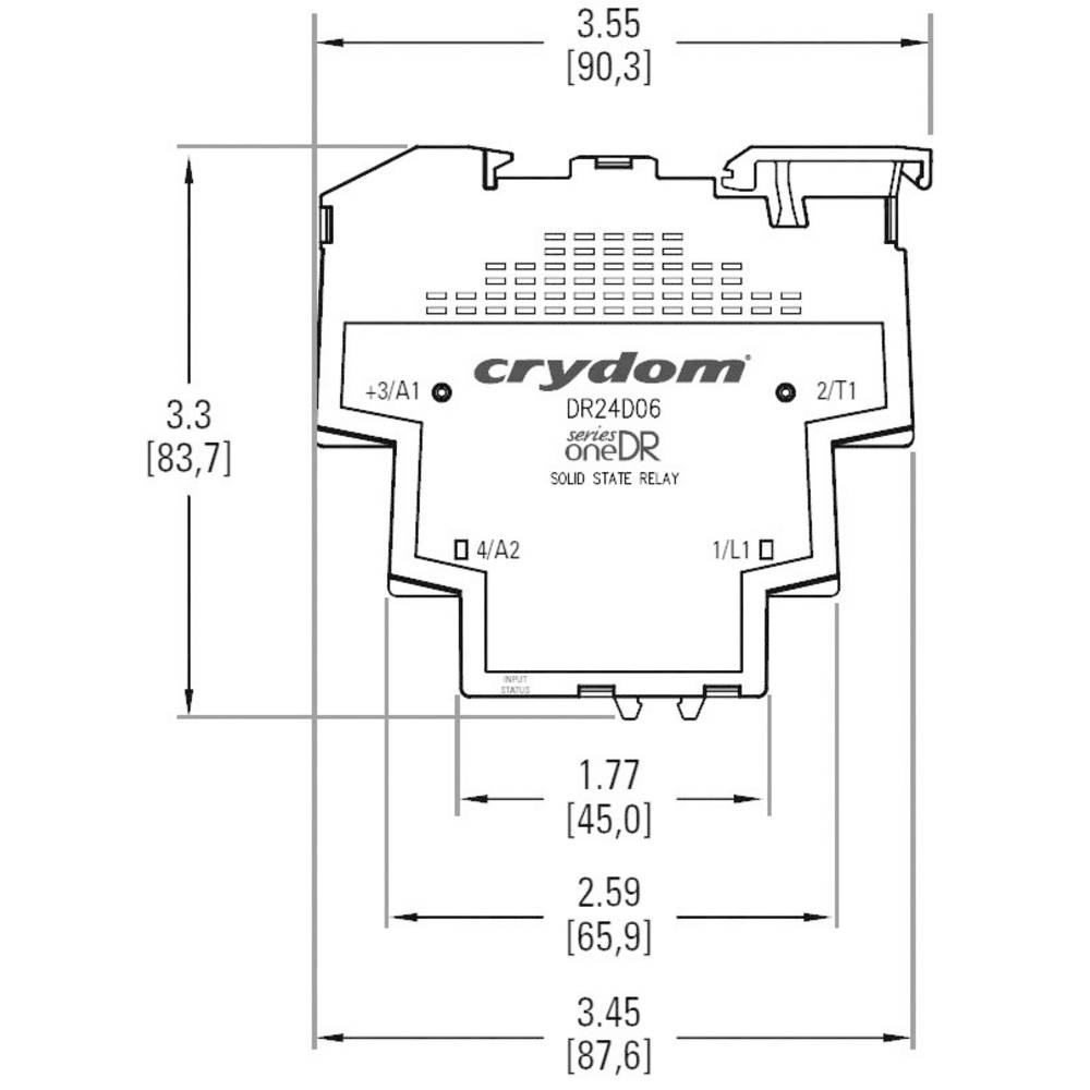 Crydom Dr48d06 Seriesone Din Rail Mount Solid State Relay From Example