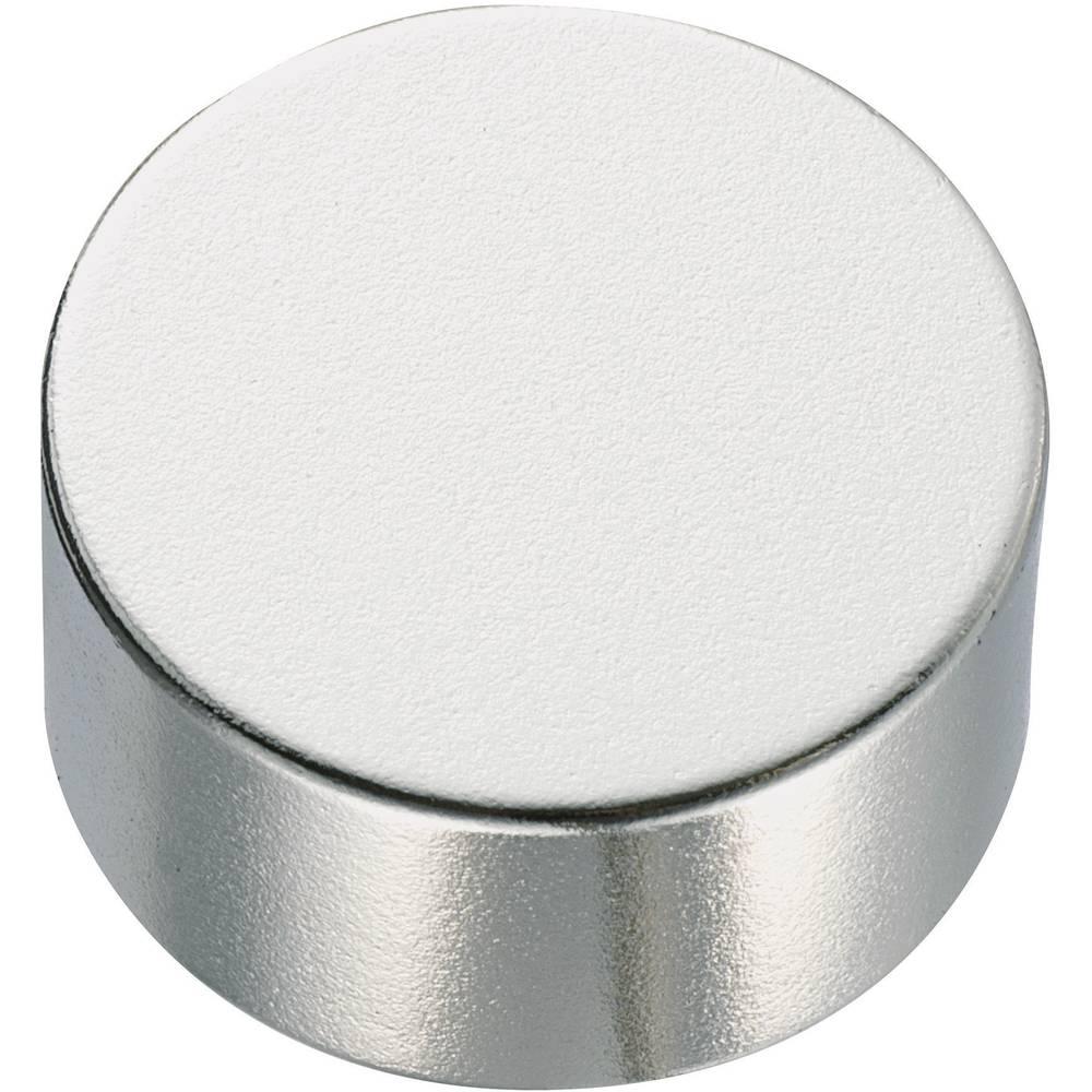 Okrogelmagnet NdFeB (oblika cilindra) ( x V) 10 mm x 2 mm material N35 remanenca 1.18-1.24 T Conrad