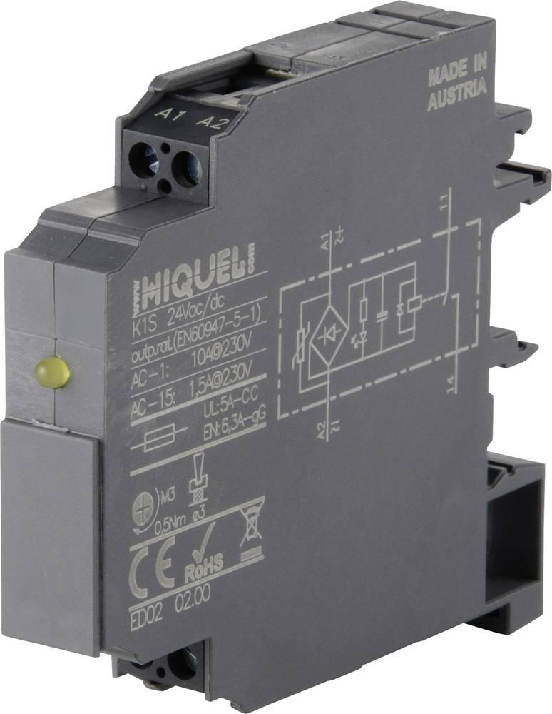 Koblingsrelæ 1 stk 230 V/AC 10 A 1 x skiftekontakt Hiquel K1W 230Vac