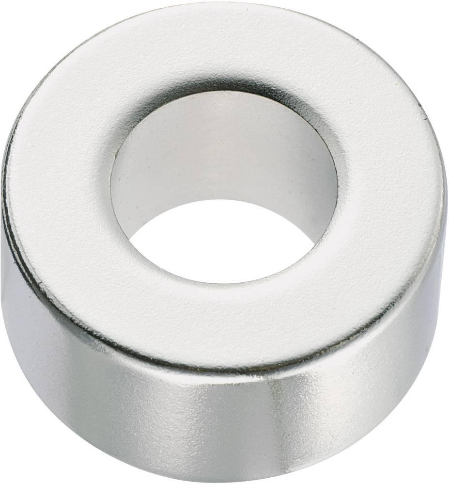Okrugli magnet NdFeB s rupom, (O x V) 20 mm x 10 mm, N35, remanenca: 1, 18-1, 24 T