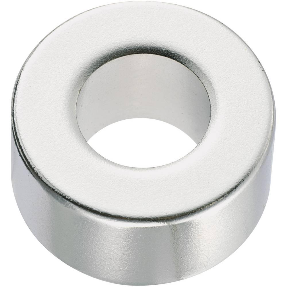 Okrugli magnet NdFeB s rupom, (O x V) 20 mm x 2 mm, N35, remanenca: 1, 18-1, 24 T