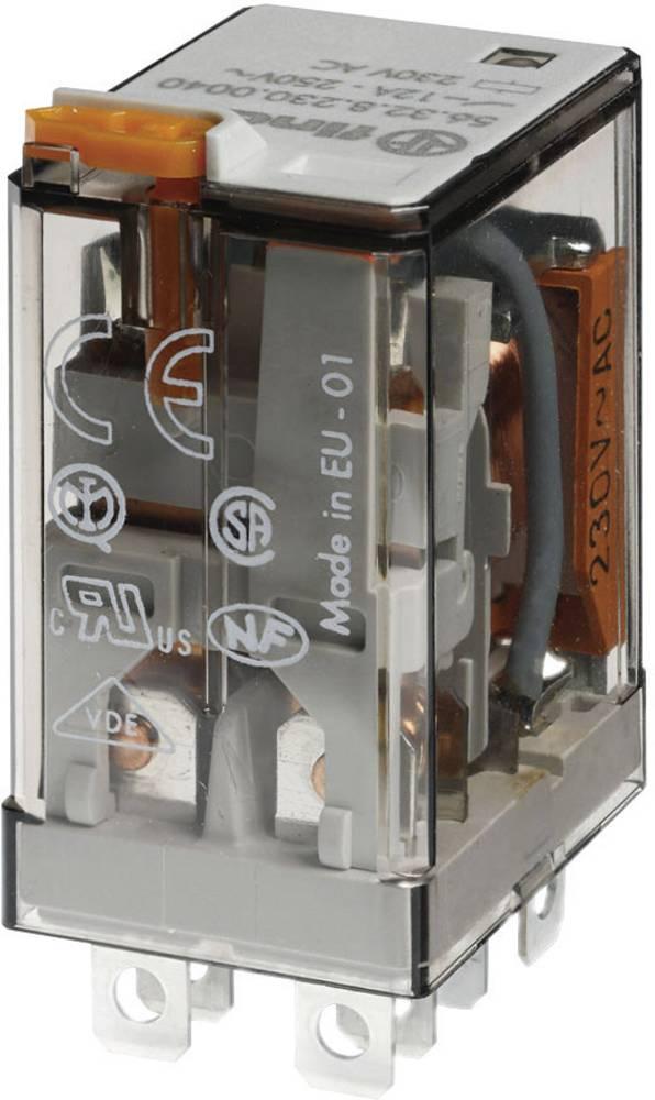 Stikrelæ 24 V/DC 12 A 2 x omskifter Finder 56.32.9.024.0040 1 stk
