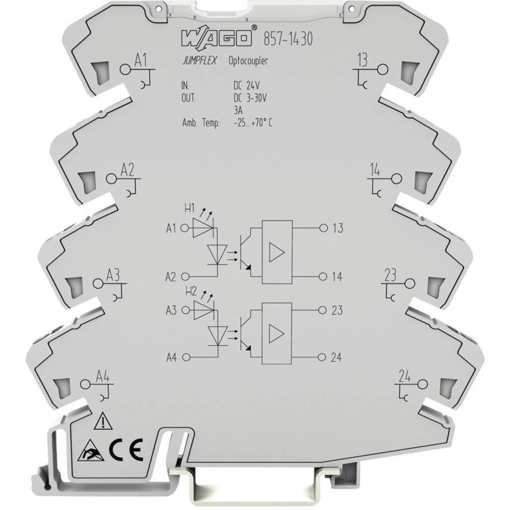 Optokopler rele Wago Jumpflex 857-1494, 2 x delovni kontakt, 0,11494, 2 x delovni kontakt,