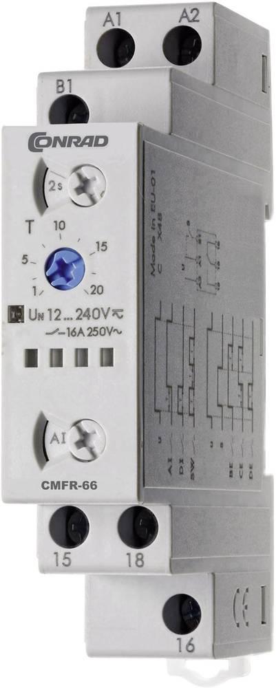 Tidsrelæ Conrad Components CMFR-66 Multifunktionel 24 h (max) 1 x skiftekontakt 1 stk