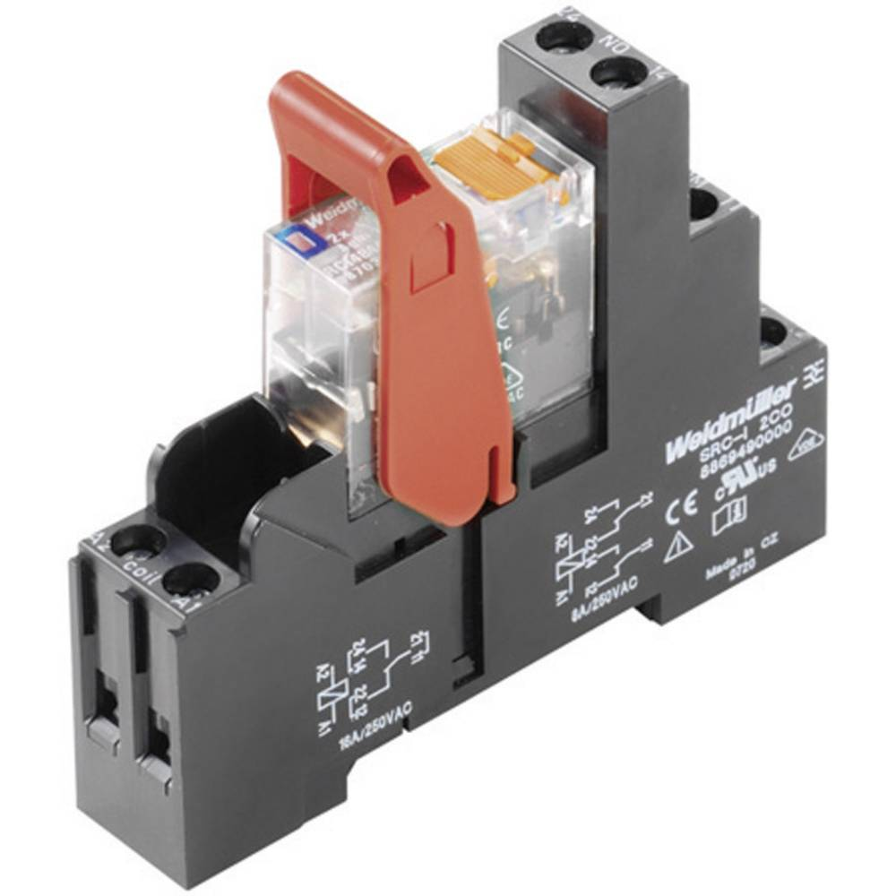 Relay Riderseries Weidmller Rcikit 24vdc 2co Led Dpdt Co 8 A From Electrical