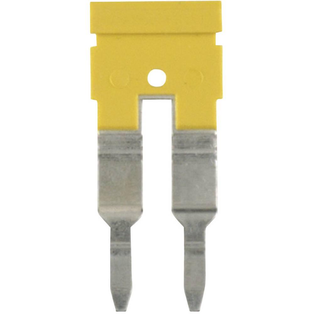 Mostiček, število polov: 10 rumene barve 1 kos Weidmüller ZQV 4N/10 GE