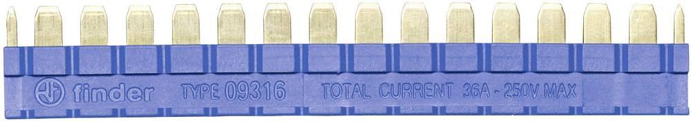 Kamrække 250 V/AC Poltal: 16 Blå 1 stk Finder 093.16