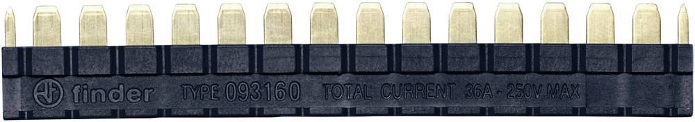Mostiček Finder 093.16.0 za rele s sponko serije 39, črne barve