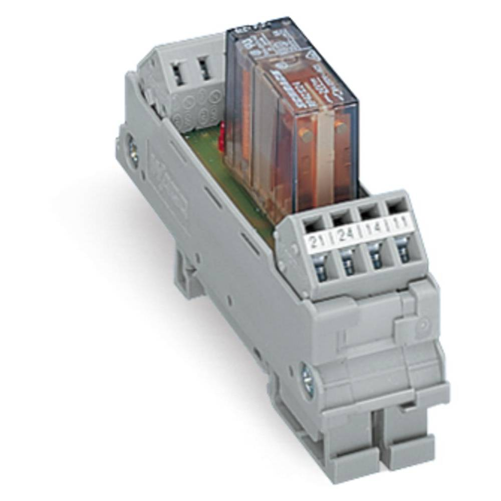 Relæprintplade bestykket 1 stk WAGO 288-312 2 x omskifter 24 V/DC