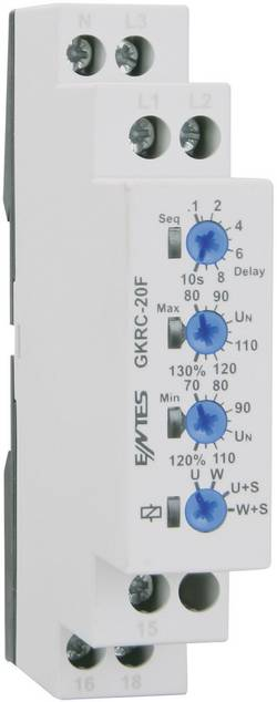 GKRC-20F voltage monitoring relay ENTES® GKRC-20F Contact type SPDT-CO (8 A)