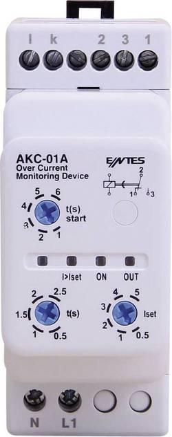 AKC current monitoring relay ENTES® AKC-01A Contact type SPDT-CO (8 A)