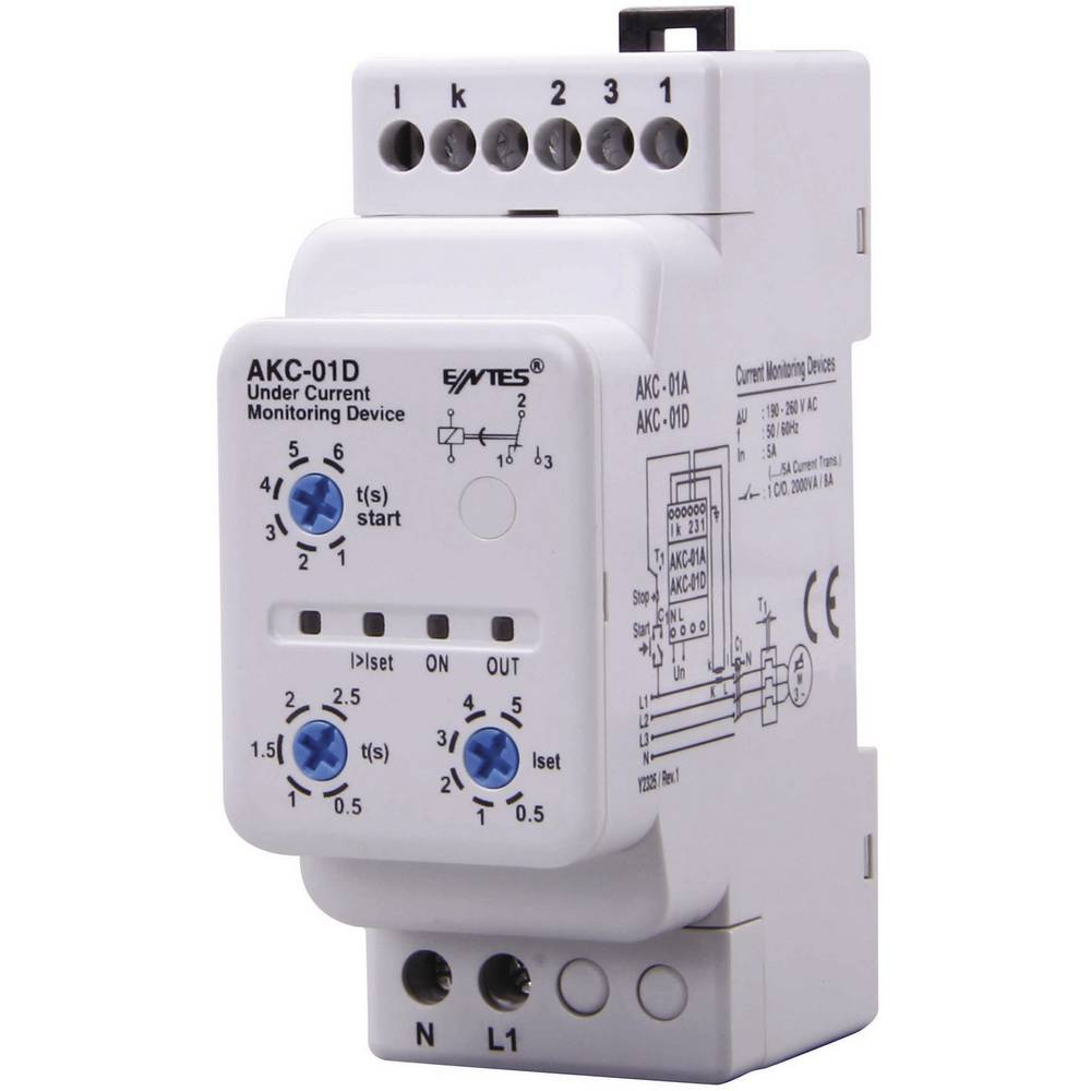 Akc Current Monitoring Relay Entes 01d Contact Type Spdt Co 8 A Electrical Term