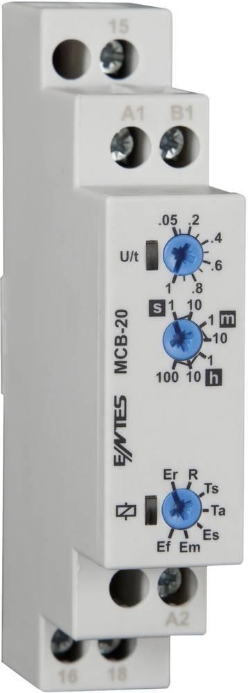 ENTES® MCB-20-Večfunkcijski časovni rele, 24-240V DC/AC, 1NC, 8A