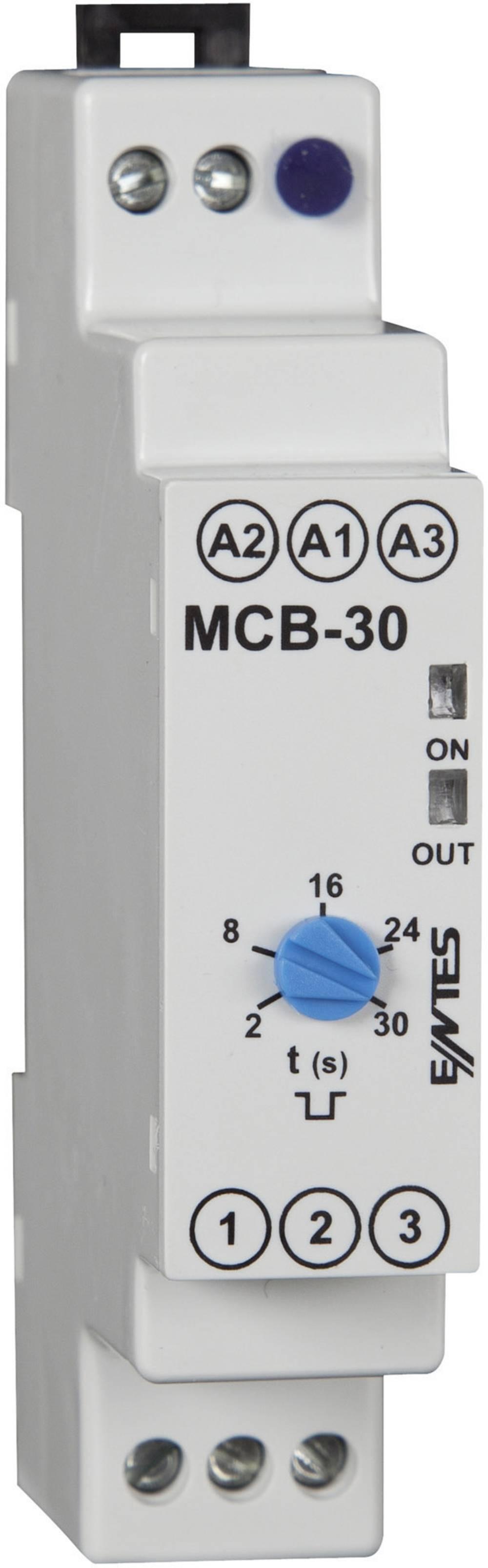 ENTES® MCB-30-Vremenski relej, 24V/AC/DC/230 V/AC, 1NC, 8A