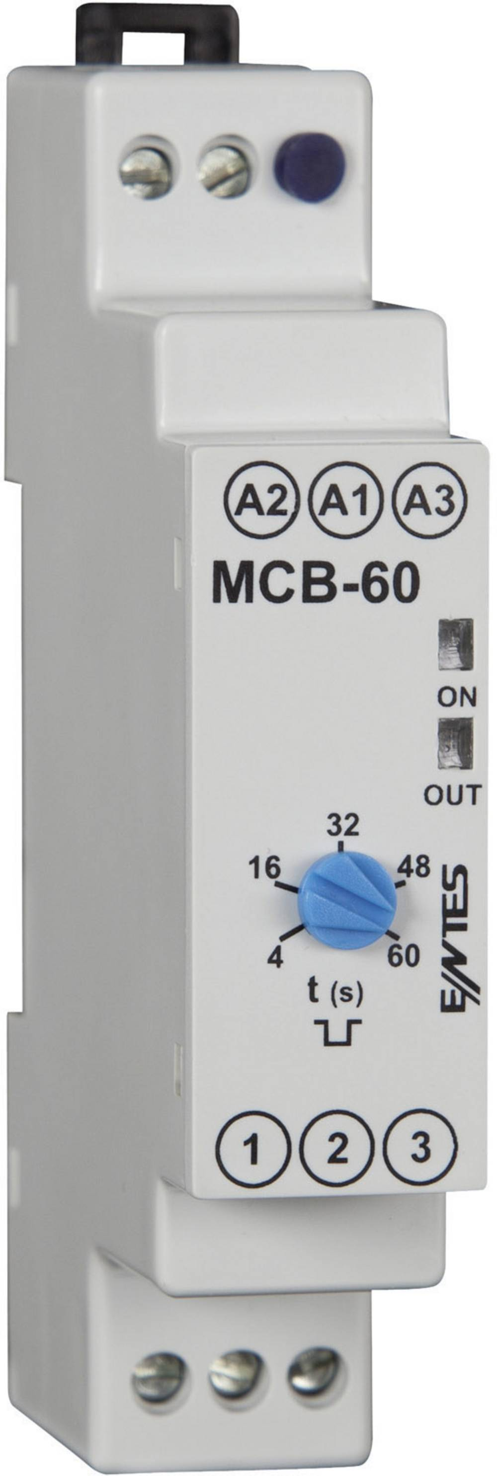 ENTES® MCB-60 Time Delay Relay, Timer, SPDT-CO (8 A) 24 V/AC/DC/230 V/AC