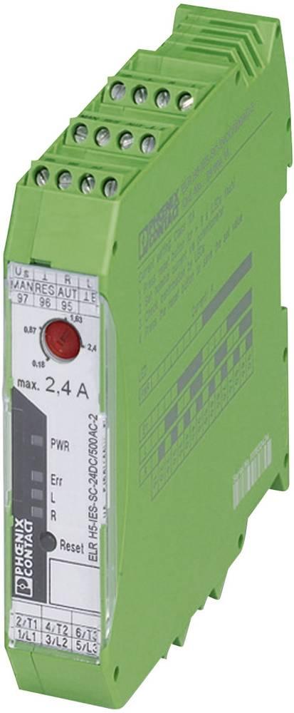 Zaščita motorja 1 kos ELR H5-H IES-SC-230AC/ 500AC-2 Phoenix Contact bremenski tok: 2.4 A preklopna napetost (maks.): 550 V/AC